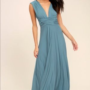 LULU's SLATE BLUE MAXI DRESS